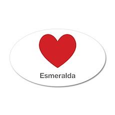 Esmeralda Big Heart Wall Decal
