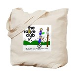 Rallye Tote w/ unicycle cartoon