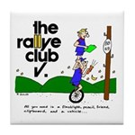 Tile Coaster w/ unicycle cartoon