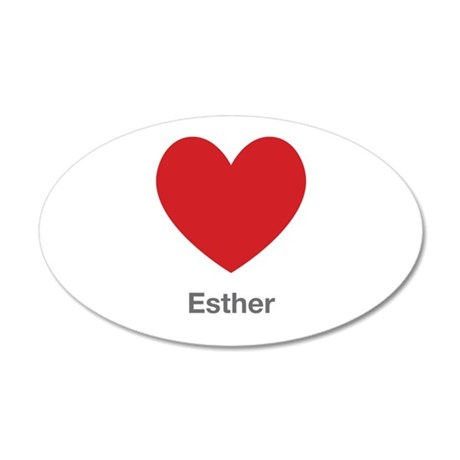 Esther Big Heart Wall Decal