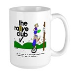 Soup mug w/ unicycle cartoon