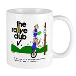 Coffee Mug w/ unicycle cartoon