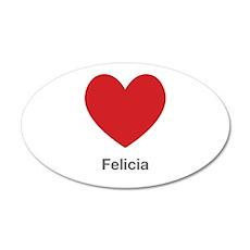 Felicia Big Heart Wall Decal
