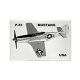 P-51 MUSTANG Rectangle Magnet (100 pack)