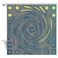 Gray Wave Shower Curtain