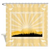 Western Silhouette Shower Curtain