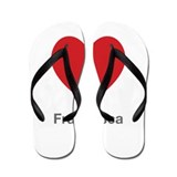 Francesca Big Heart Flip Flops
