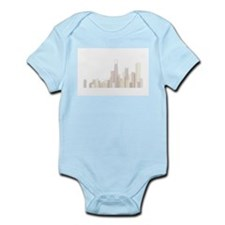 Modern Chicago Skyline Body Suit