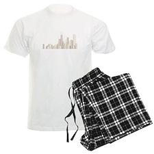 Modern Chicago Skyline Pajamas