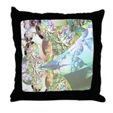 Wings of Angels Amethyst Crystals Throw Pillow
