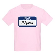 Hello: Maya Kids T-Shirt