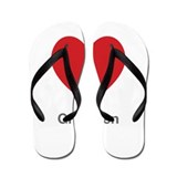 Gretchen Big Heart Flip Flops
