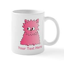 Pink Persian Cat. Text. Mug