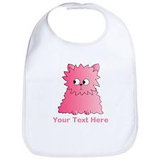 Pink Persian Cat. Text. Bib