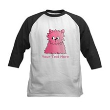 Pink Persian Cat. Text. Baseball Jersey
