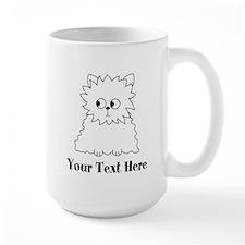 Persian Cat. Black Text. Mug