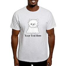 Persian Cat. Black Text. T-Shirt