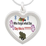 Who Forgot What Day? Silver Heart Necklace