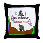 Who Forgot Throw Pillow