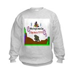 Who Forgot Kids Sweatshirt