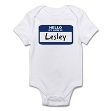 Hello: Lesley Infant Bodysuit