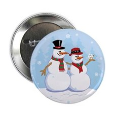 "Snow- grandpa & grandma 2.25"" Button (100 pack)"