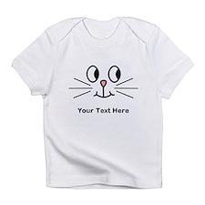 Cute Cat Face, Black Text. Infant T-Shirt