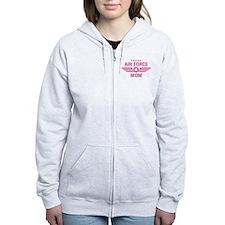 Proud Air Force Mom W [pink] Zip Hoodie