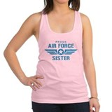 Proud Air Force Sister W Racerback Tank Top