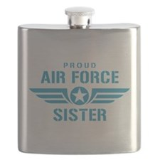 Proud Air Force Sister W Flask