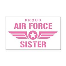 Proud Air Force Sister W [pink] Rectangle Car Magn