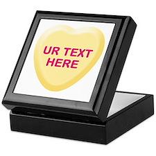 Banana Candy Heart Personalized Keepsake Box
