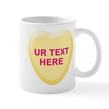 Banana Candy Heart Personalized Mug