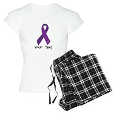 Personalized Purple Ribbon pajamas