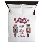 Happy Holidays Nutcracker Queen Duvet