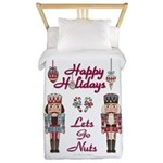 Happy Holidays Nutcracker Twin Duvet