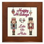 Happy Holidays Nutcracker Framed Tile
