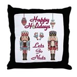 Happy Holidays Nutcracker Throw Pillow