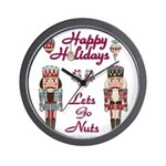 Happy Holidays Nutcracker Wall Clock
