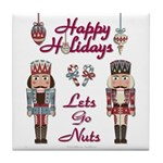 Happy Holidays Nutcracker Tile Coaster