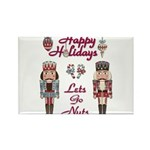 Happy Holidays Nutcracker Rectangle Magnet (100 pa