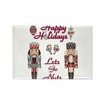 Happy Holidays Nutcracker Rectangle Magnet (10 pac