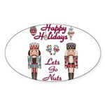 Happy Holidays Nutcracker Sticker