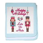 Happy Holidays Nutcracker baby blanket
