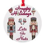 Happy Holidays Nutcracker Ornament