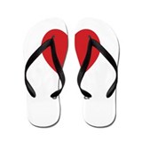 Juliana Big Heart Flip Flops