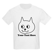 Cartoon Cat with Black Text. T-Shirt