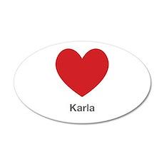 Karla Big Heart Wall Decal