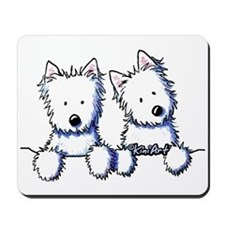 Pocket Westie Duo Mousepad