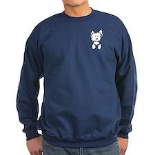 Pocket Westie Caricature Sweatshirt